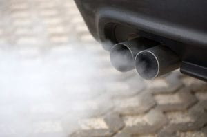 carbon monoxide exhaust from vehicle
